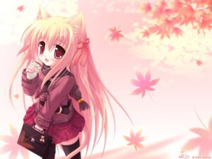 Rating: Safe Score: 5 Tags: animal_ears nekomimi wallpaper yokuran User: Cherry112