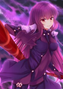 Rating: Questionable Score: 20 Tags: armor bodysuit erect_nipples fate/grand_order scathach_(fate/grand_order) thighhighs tsang_yu_chun weapon User: mash