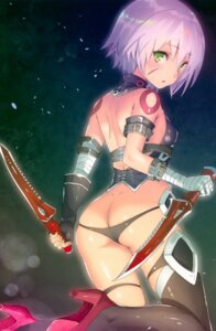Rating: Questionable Score: 58 Tags: ass bandages fate/grand_order heels jack_the_ripper kamikire_basami pantsu panty_pull tattoo thighhighs weapon yasuyuki User: kiyoe