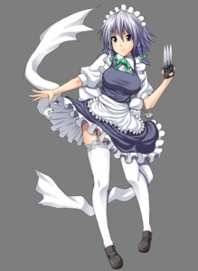 Rating: Safe Score: 14 Tags: garter_belt izayoi_sakuya maid somejima stockings thighhighs touhou transparent_png User: charunetra