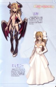 Rating: Safe Score: 21 Tags: ar_tonelico aurica_nestmile dress horns nagi_ryou thighhighs wedding_dress wings User: fireattack