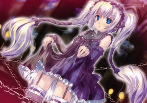Rating: Safe Score: 59 Tags: dress ekaterina_kurae gothic_lolita komatsu_e-ji lolita_fashion screening seikon_no_qwaser skirt_lift stockings thighhighs User: charunetra
