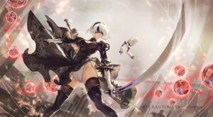 Rating: Questionable Score: 71 Tags: cameltoe cleavage criin dress mecha nier_automata pantsu sword thighhighs yorha_no.2_type_b User: Mr_GT