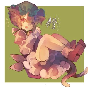 Rating: Safe Score: 9 Tags: animal_ears bloomers cha_goma chen nekomimi tail touhou User: charunetra