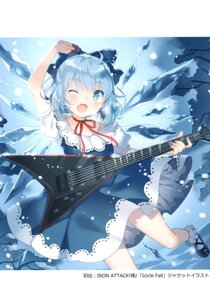 Rating: Questionable Score: 20 Tags: cirno dress guitar rie touhou wings User: Radioactive