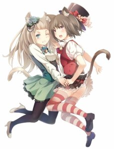 Rating: Safe Score: 35 Tags: animal_ears nekomimi pantsu pantyhose supertie tail thighhighs User: SciFi