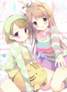 Rating: Questionable Score: 86 Tags: bloomers cleavage koizumi_hanayo love_live! minami_kotori shiratama shiratamaco User: Twinsenzw