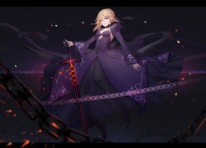 Rating: Safe Score: 40 Tags: cleavage dress fate/grand_order heels lanzi saber saber_alter sword User: Mr_GT