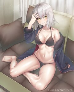 Rating: Safe Score: 61 Tags: bikini cleavage fate/grand_order jeanne_d'arc jeanne_d'arc_(alter)_(fate) open_shirt s-goon swimsuits underboob User: Mr_GT