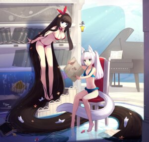 Rating: Safe Score: 100 Tags: animal_ears bikini cleavage swimsuits tail tiger_205 User: tbchyu001