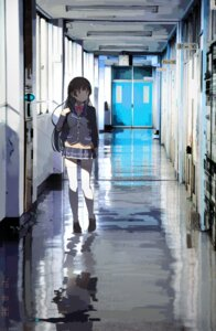 Rating: Safe Score: 39 Tags: f-fuu nijisanji seifuku sweater thighhighs tsukino_mito User: Dreista
