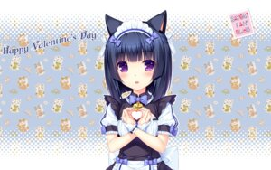 Rating: Safe Score: 54 Tags: animal_ears maid minazuki_shigure neko_para neko_works nekomimi sayori valentine wallpaper User: LiHaonan