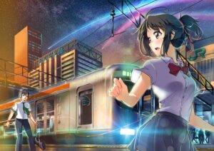 Rating: Safe Score: 23 Tags: carillus kimi_no_na_wa miyamizu_mitsuha seifuku tachibana_taki User: Mr_GT