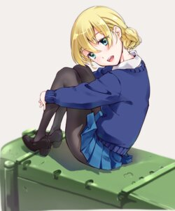 Rating: Safe Score: 18 Tags: darjeeling girls_und_panzer heels pantyhose seifuku skirt_lift suzuki24 sweater User: Mr_GT