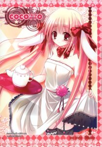 Rating: Safe Score: 26 Tags: animal_ears bunny_ears cocotto dress mizusawa_mimori stockings thighhighs User: midzki