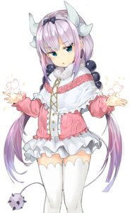 Rating: Safe Score: 38 Tags: horns kanna_kamui kobayashi-san_chi_no_maid_dragon tail thighhighs tuxedo_de_cat User: nphuongsun93