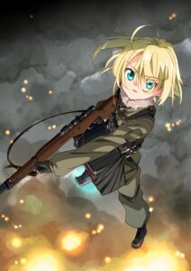 Rating: Safe Score: 28 Tags: gun moso tanya_degurechaff uniform youjo_senki User: charunetra