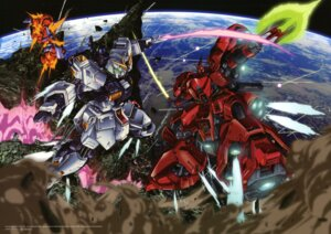 Rating: Safe Score: 19 Tags: char's_counterattack gundam mecha nu_gundam sazabi teraoka_iwao User: Radioactive