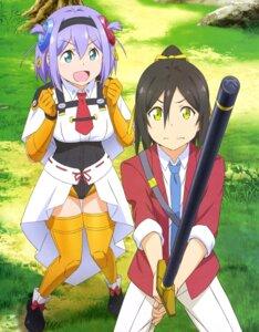 Rating: Safe Score: 23 Tags: seifuku shachou_battle_no_jikan_desu! sword thighhighs uniform User: drop