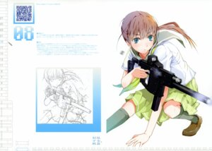 Rating: Safe Score: 34 Tags: fuyuno_haruaki gun seifuku sketch techno_fuyuno User: Chrissues