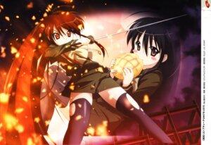 Rating: Safe Score: 12 Tags: fujii_masahiro seifuku shakugan_no_shana shana sword thighhighs User: vita