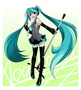 Rating: Safe Score: 12 Tags: hatsune_miku kakkii thighhighs vocaloid User: vanilla