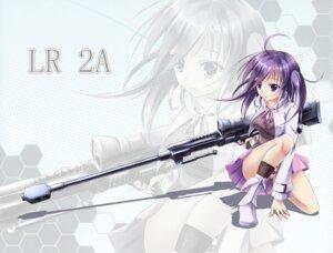 Rating: Safe Score: 54 Tags: gun murasaki_shitsu pantsu shimapan User: hobbito