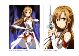Rating: Safe Score: 31 Tags: armor asuna_(sword_art_online) kawakami_tetsuya sword sword_art_online thighhighs User: drop