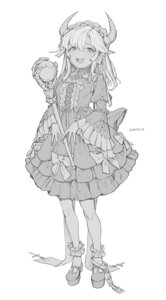 Rating: Questionable Score: 10 Tags: freng gothic_lolita horns lolita_fashion monochrome tagme weapon User: Dreista