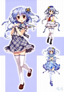 Rating: Safe Score: 53 Tags: dress fujima_takuya kagamihara_azumi seifuku thighhighs z/x_zillions_of_enemy_x User: drop
