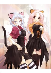 Rating: Safe Score: 24 Tags: animal_ears hapoi-dokoro lolita_fashion megane nekomimi okazaki_takeshi tail thighhighs User: Radioactive