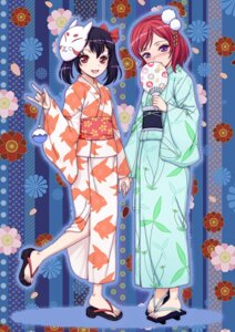 Rating: Safe Score: 13 Tags: love_live! nishikino_maki orbg yazawa_nico yukata User: fairyren