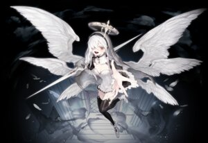 Rating: Safe Score: 29 Tags: cleavage dress heels ozyako0 thighhighs weapon wings User: charunetra