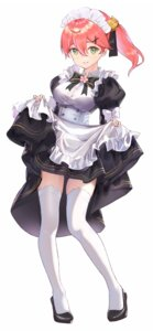 Rating: Safe Score: 23 Tags: hololive maid mikazukicrescent sakura_miko skirt_lift thighhighs User: Arsy