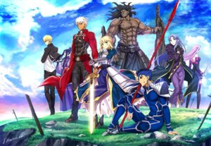 Rating: Safe Score: 23 Tags: aora archer armor assassin_(fsn) berserker blood bodysuit caster dress fate/stay_night gilgamesh_(fsn) lancer pointy_ears rider saber sword thighhighs weapon User: Nepcoheart