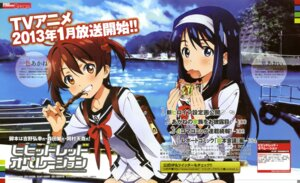 Rating: Questionable Score: 24 Tags: futaba_aoi_(vividred_operation) isshiki_akane seifuku tanaka_yuusuke vividred_operation User: Ravenblitz