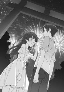Rating: Safe Score: 6 Tags: dress gokou_ruri kanzaki_hiro kousaka_kyousuke monochrome ore_no_imouto_ga_konnani_kawaii_wake_ga_nai summer_dress User: kiyoe