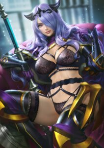 Rating: Questionable Score: 35 Tags: armor bra camilla fire_emblem fire_emblem_if garter_belt horns lingerie nudtawut_thongmai stockings thighhighs weapon User: Keethaux