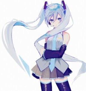 Rating: Safe Score: 39 Tags: hatsune_miku headphones p2 tattoo thighhighs vocaloid User: nphuongsun93