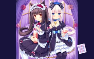 Rating: Safe Score: 70 Tags: animal_ears chocolat cleavage dress lolita_fashion neko_para neko_works nekomimi sayori valentine vanilla wallpaper User: kotorilau