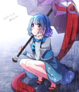 Rating: Safe Score: 18 Tags: heterochromia ice_(aitsugai) tatara_kogasa touhou umbrella User: Mr_GT