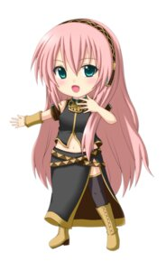 Rating: Safe Score: 20 Tags: chibi jpeg_artifacts kuena megurine_luka thighhighs vocaloid User: shizukane