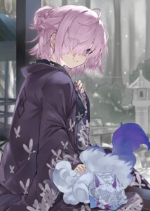 Rating: Safe Score: 40 Tags: fate/grand_order fou_(fate/grand_order) japanese_clothes kou_mashiro mash_kyrielight User: yanis