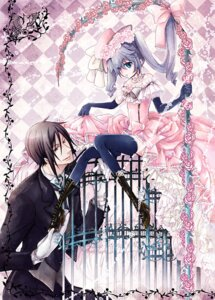 Rating: Safe Score: 17 Tags: ciel_phantomhive dress kuroshitsuji mesubuta sebastian_michaelis thighhighs trap User: Kanon