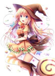 Rating: Safe Score: 39 Tags: ass dress halloween heels thighhighs watagashi_yui witch User: aaayu