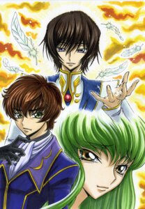 Rating: Safe Score: 6 Tags: c.c. code_geass kururugi_suzaku lelouch_lamperouge shunpuu User: yumichi-sama