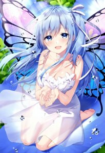 Rating: Safe Score: 117 Tags: cleavage dress emori_miku emori_miku_project masuishi_kinoto see_through summer_dress wings User: lounger