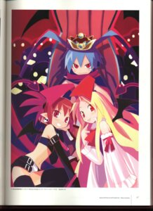 Rating: Safe Score: 5 Tags: binding_discoloration disgaea etna flonne laharl pointy_ears tail thighhighs wings yamamoto_keiji User: MDGeist