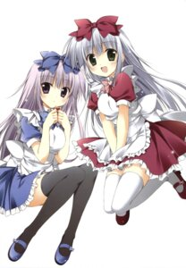 Rating: Safe Score: 48 Tags: airi_(alice_or_alice) alice_or_alice_siscon_nii-san_to_futago_no_imouto korie_riko maid rise_(alice_or_alice) thighhighs User: Twinsenzw