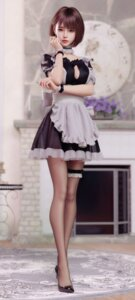 Rating: Safe Score: 70 Tags: cg cleavage garter heels maid no_bra tagme User: wudiao
